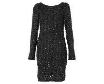 Black Sequin Bodycon Dress at Quiz