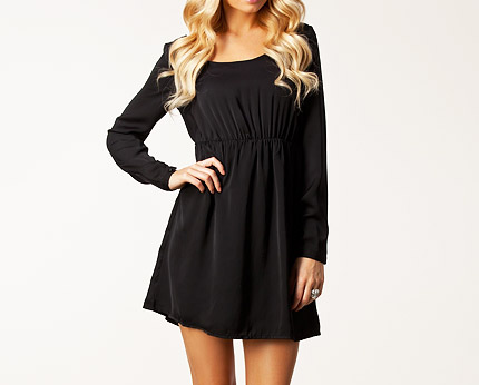 Baby Doll Dress with Strappy Open Back at Nelly