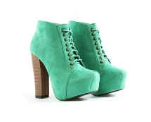 Green Suede Platform Lace Up Boots at Missguided