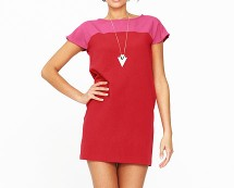 Pink Two Tone Tunic with Zip Detail at K and Co