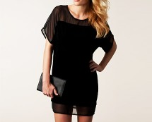 Velvet & Mesh Shift Dress at Nelly
