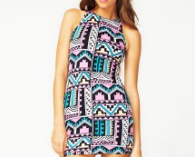 Aztec Print Bodycon Dress at Motel Rocks
