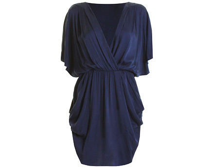 Batwing Sleeve Wrap Dress at InLoveWithFashion