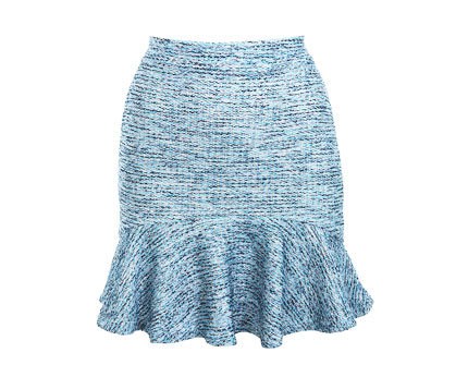 Boucle Tweed Frill Hem Skirt at Miss Selfridge