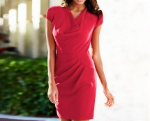 Cowl Neck Shift Dress at Bon Prix