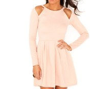Cut Out Shoulder Skater Dress at Missguided