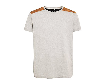 Shoulder Patch T-shirt at New Look