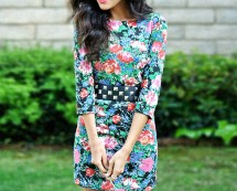 Alice Floral Print Scoop Back Dress