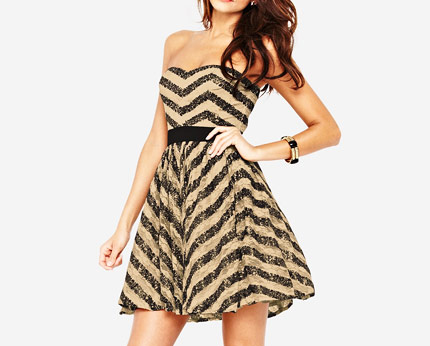 Little Mistress Sequin Bandeau Dress