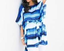 Oversized Stripe Tunic - Blue
