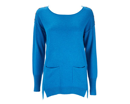 Pocket Button Tunic - Blue