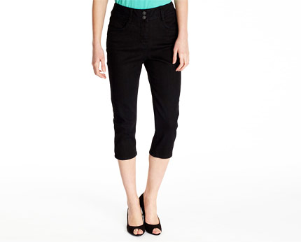 Slim Crop Jeans - Black