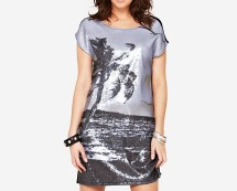 South Sequin Printed Panel Tunic