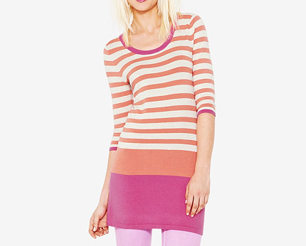 South Stripe Tunic - Pink, Blue