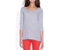 Striped Fisherman-Style Jersey T-Shirt