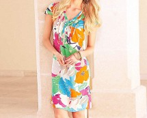Summer Print Shift Dress
