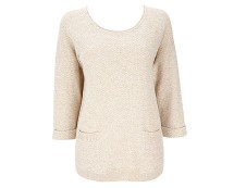 Twist Knitted Jumper - Stone
