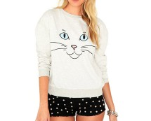 Women's Cat Face Sweater