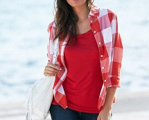 Women's Check Shirt - Red