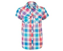 Women's Short Sleeve Check Shirt