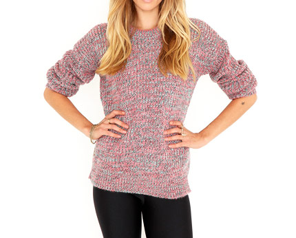 Women's Tetrine Knitted Mix Jumper