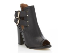 Abby Peep Toe Rand Boot - Black