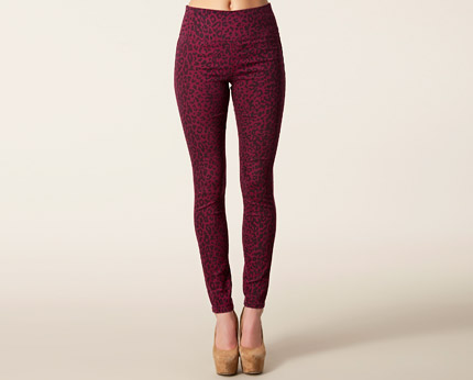 Funky Ruby Highwaist Leggings - Burgundy
