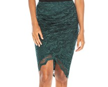Lace Wrap Front Skirt Goddiva