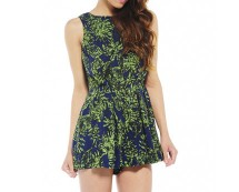 Leaf Print Playsuit