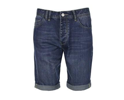 Men's Denim Short with Print Details