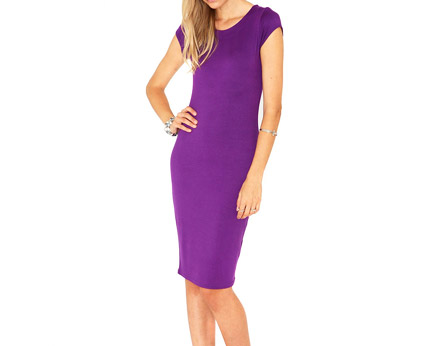 Midi Bodycon Dress - Purple, Black and More
