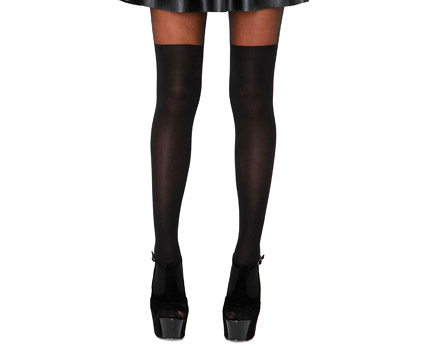 Over The Knee Tights - Black