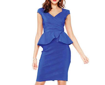Paper Dolls Crossover Peplum Dress Isme