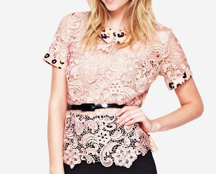 Peter Pan Collar Lace Blouse Isme