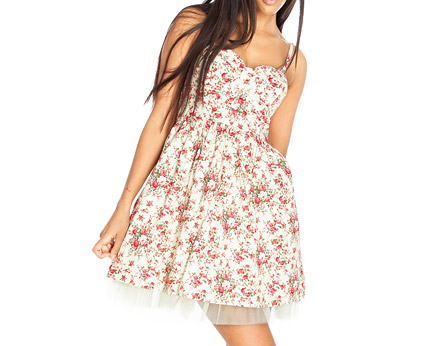 Rose Print Sun Dress Goddiva