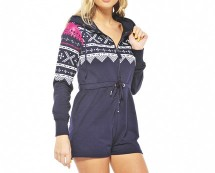 Short Aztec Onesie - Navy, Pink and More