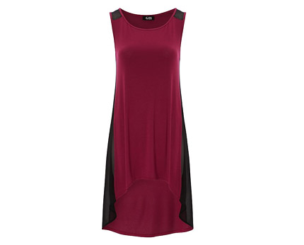 Sleeveless Jersey Dress - Burgundy