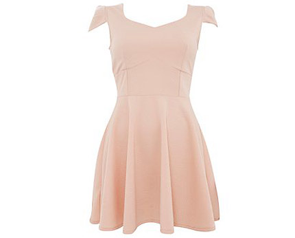 Sweetheart Skater Dress Newlook