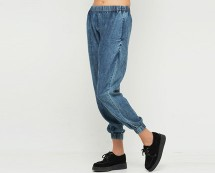 Acid Wash Denim Joggers Motel Rocks