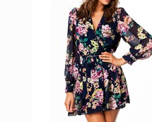 Blue Floral Dress Nelly