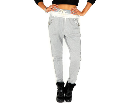 Diamond Detail Sweatpants Missguided