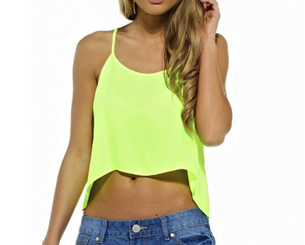 Neon Crop Top Axparis