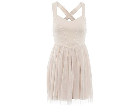 Nude Pink Dress Newlook