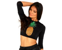 Pineapple Crop Top Missguided
