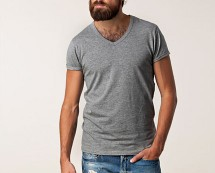 Plain V Neck T Shirt Nelly