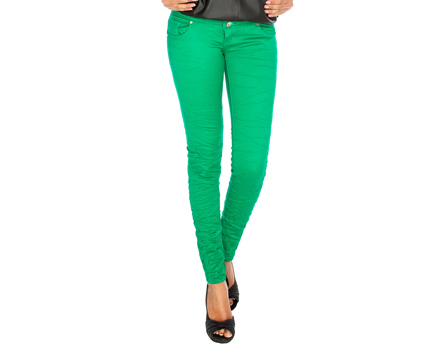 Crushed Colour Skinny Jeans