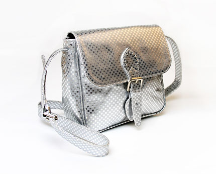 Motel Saddle Satchel - Silver