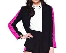 Love Label Contrast Lace Blazer at Very